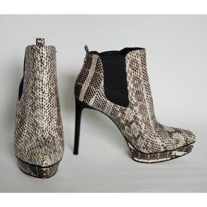 Michael Kors Meadow Snakeskin Booties